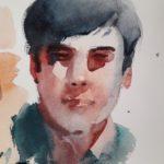 portret in aquarel 4